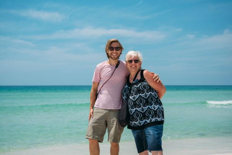 Stevie Vagabond and mom at Pensacola Beach