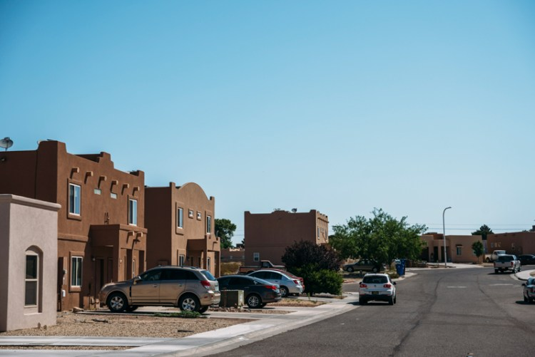 Photo of a residential neighborhood in Las Cruces, NM.
