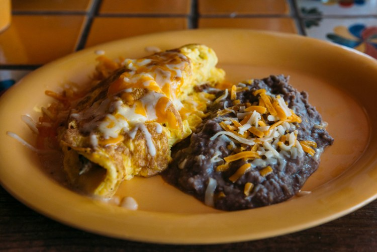 Mexican omelette at La Nueva Casita Cafe in Las Cruces, New Mexico.