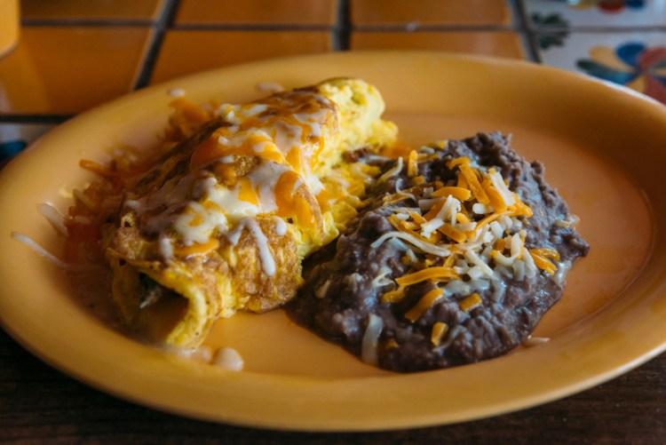 Mexican omelette at La Nueva Casita Cafe in Las Cruces, New Mexico.