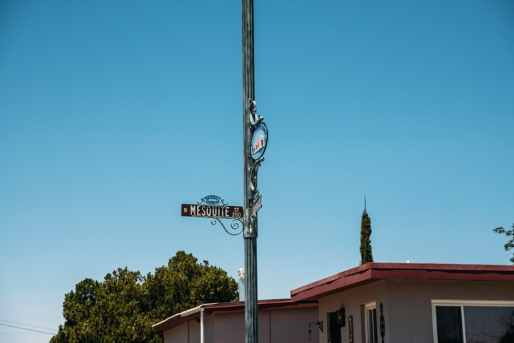 Photo of a street sign in downtown Las Cruces, NM.