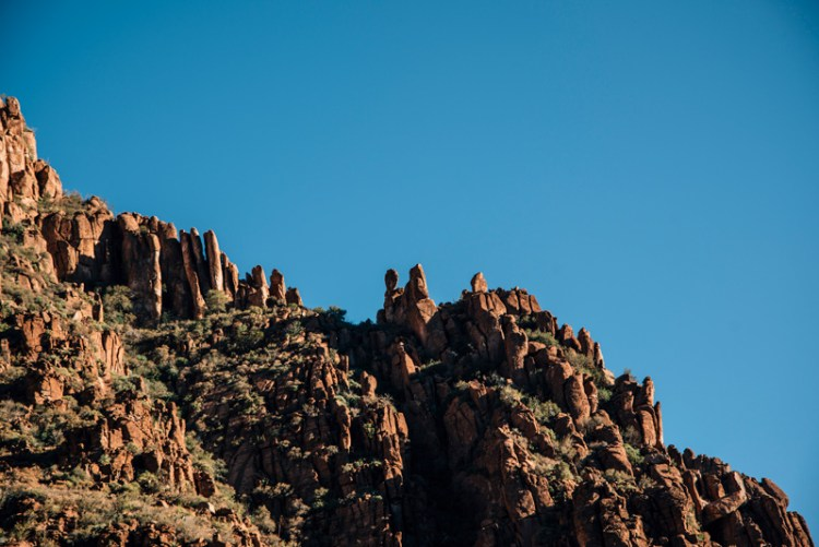 Photo of red rock hills in Arizona.