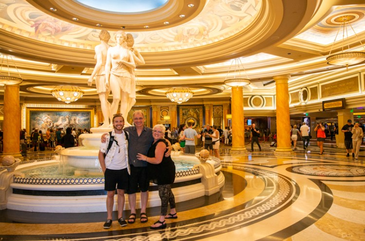 Three of us inside MGM Grand together before exploring Vegas.