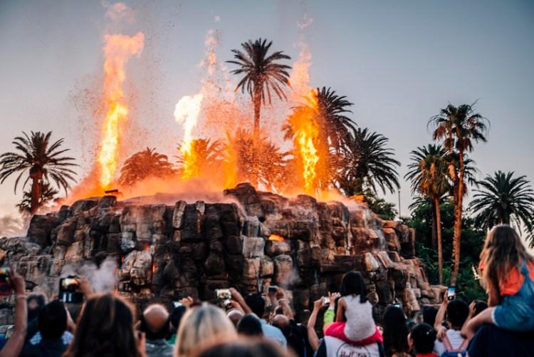 The Mirage Hotel Lava Show