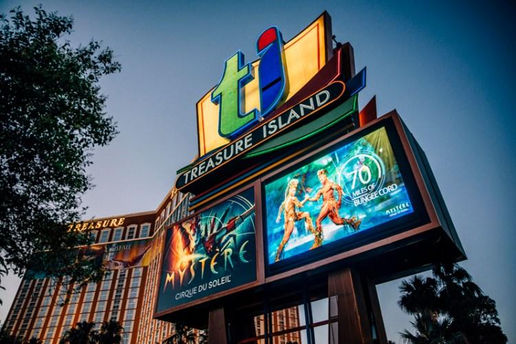 Treasure Island show sign.