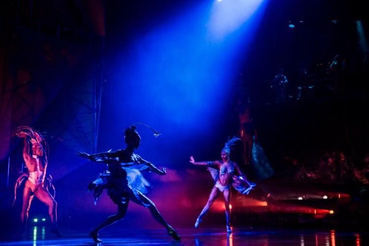 Performers in Cirque du Soleil Mystere at Treasure Island in Las Vegas. Photo by Stevie Vagabond.
