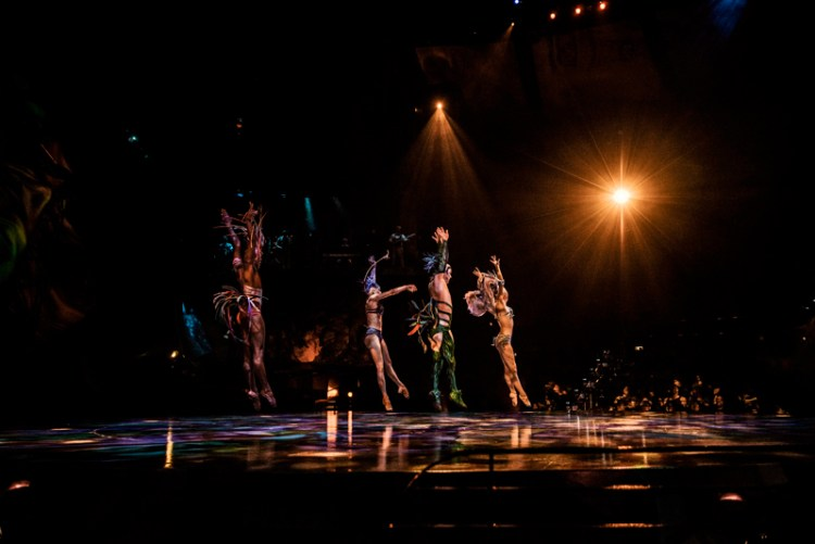 Performers in Cirque du Soleil Mystere at Treasure Island in Las Vegas. Photo by Stevie Vagabond.
