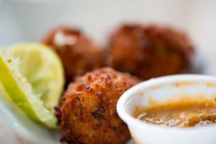 photo of gluten free conch fritters by One Love Key West