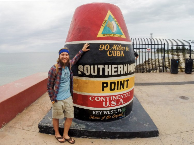 stevie vagabond at the southernmost point of the united states
