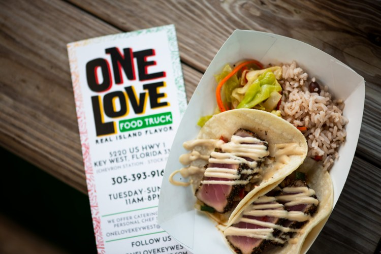 photo of spicy tuna tacos by one love key west
