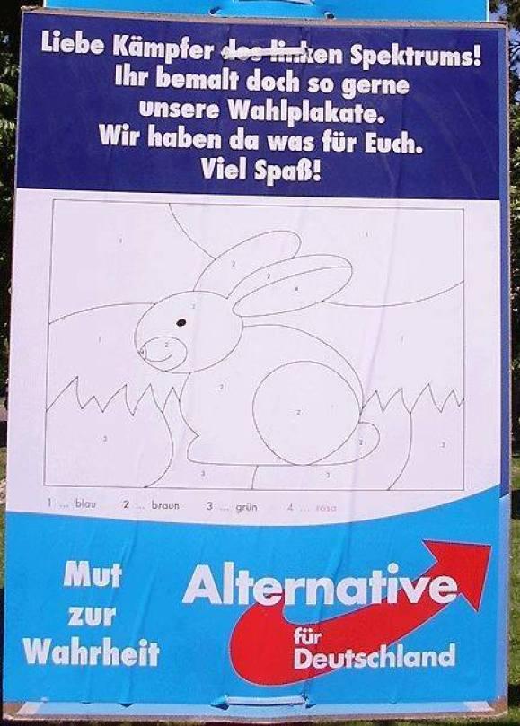 Wahlplakat Der Afd Stevinhode Ein Ausgezeichneter Blog