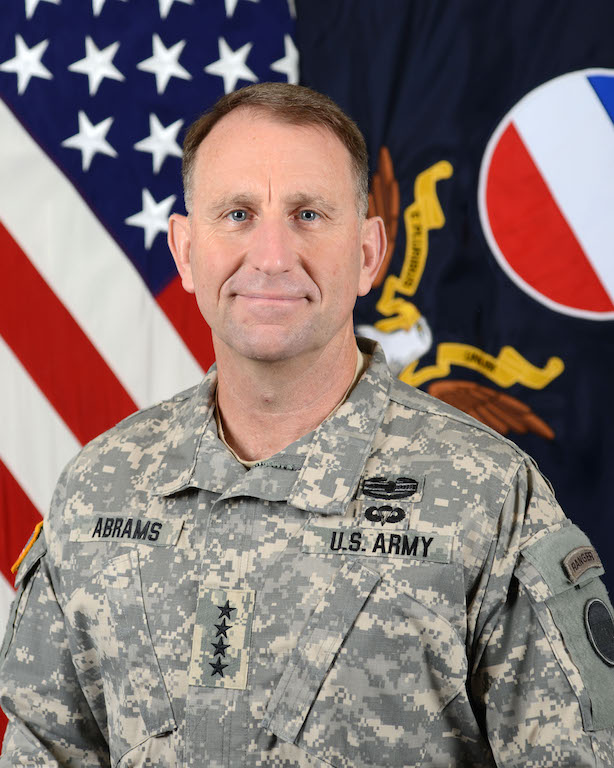 Gen. Robert B. Abrams, Commanding General of Forccom (U.S. Army Forces Command), poses for a command portrait in the Army portrait studio at the Pentagon in Washington, D.C., July 21, 2015. (U.S. Army photo by Monica King/Released)