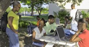 UWI students using wireless network