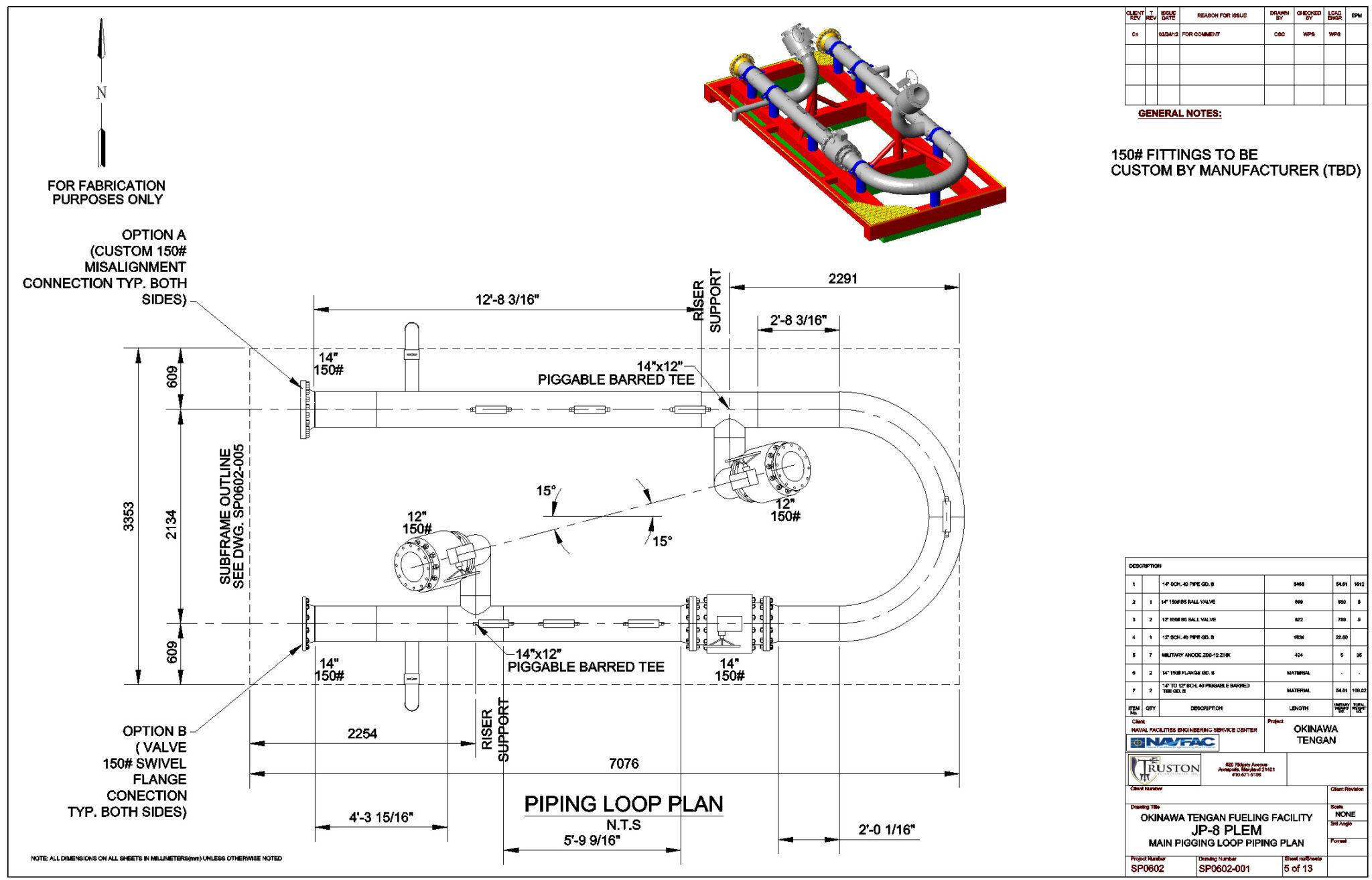 PLEM Pigging Loop Piping Plan • Stewart Technology
