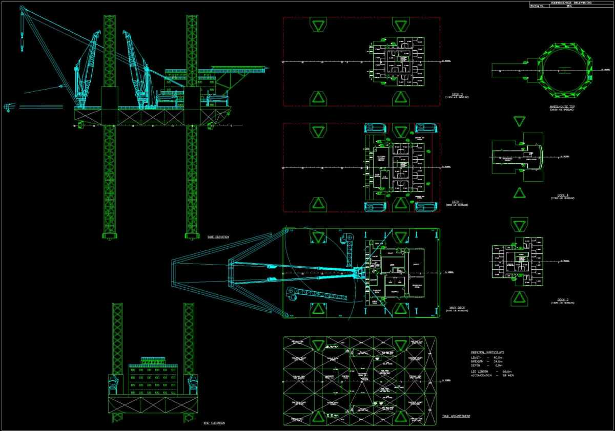 Jack-up design with 750-ton crane