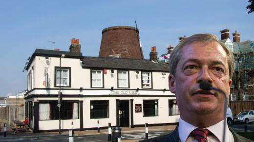 Nigel Farage at The Old Mill SE18