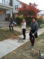 philanthropy-- raking our neighbor's yards
