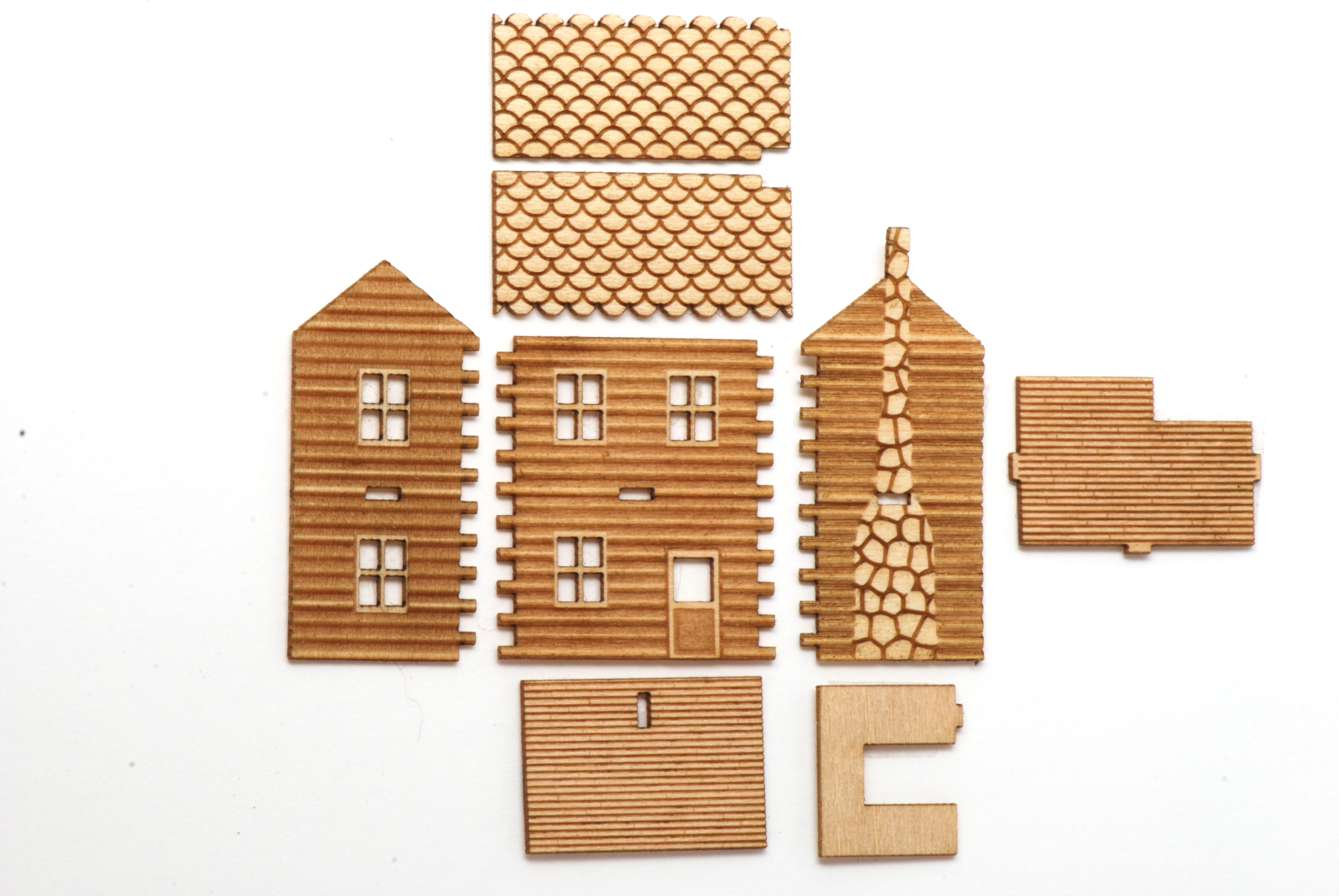 2 Story Log Cabin Kit Stewart Dollhouse Creations