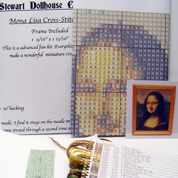 112 Scale Miniature Cross Stitch Kit Mona Lisa