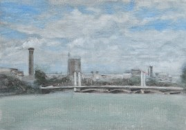 Chelsea Bridge from the River Thames