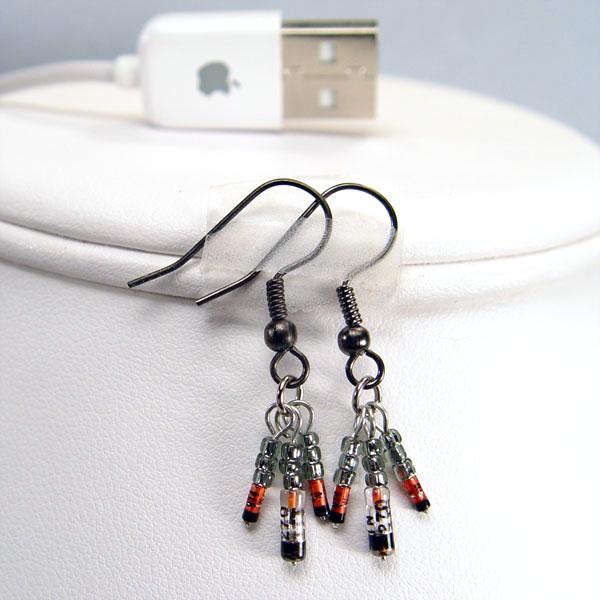 Black Germanium Diode Earrings Stewart Jewelry Designs