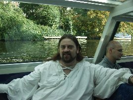 On a Canal Boat in Amsterdam on my Honeymoon