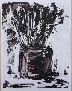 'Marjoram', sketchbook monoprint, 20cm x 25cm, £30