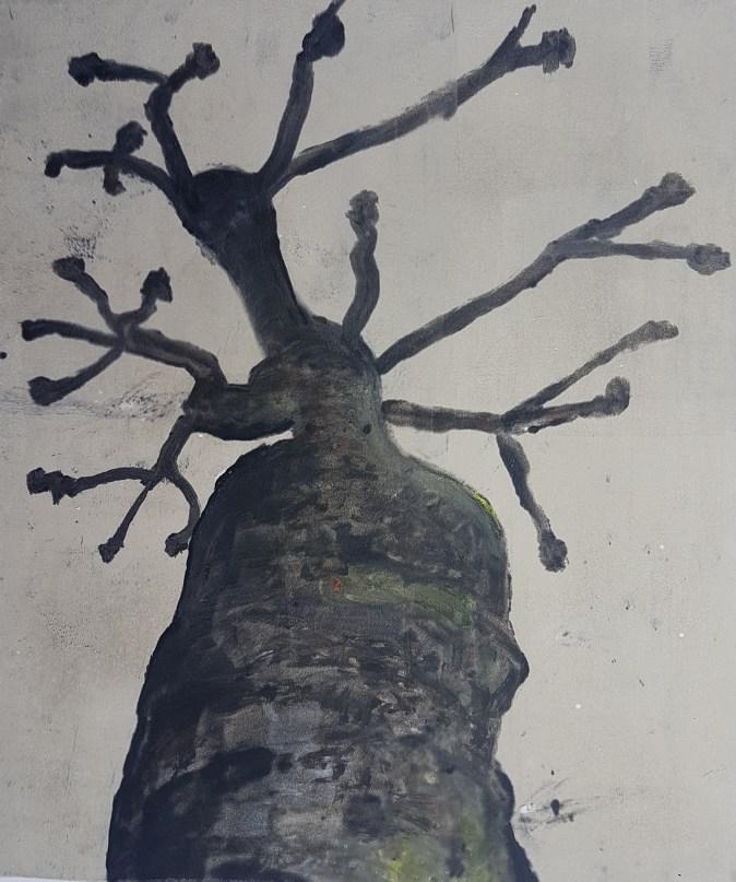 Stump #56, Monoprint, 36cm x 30cm
