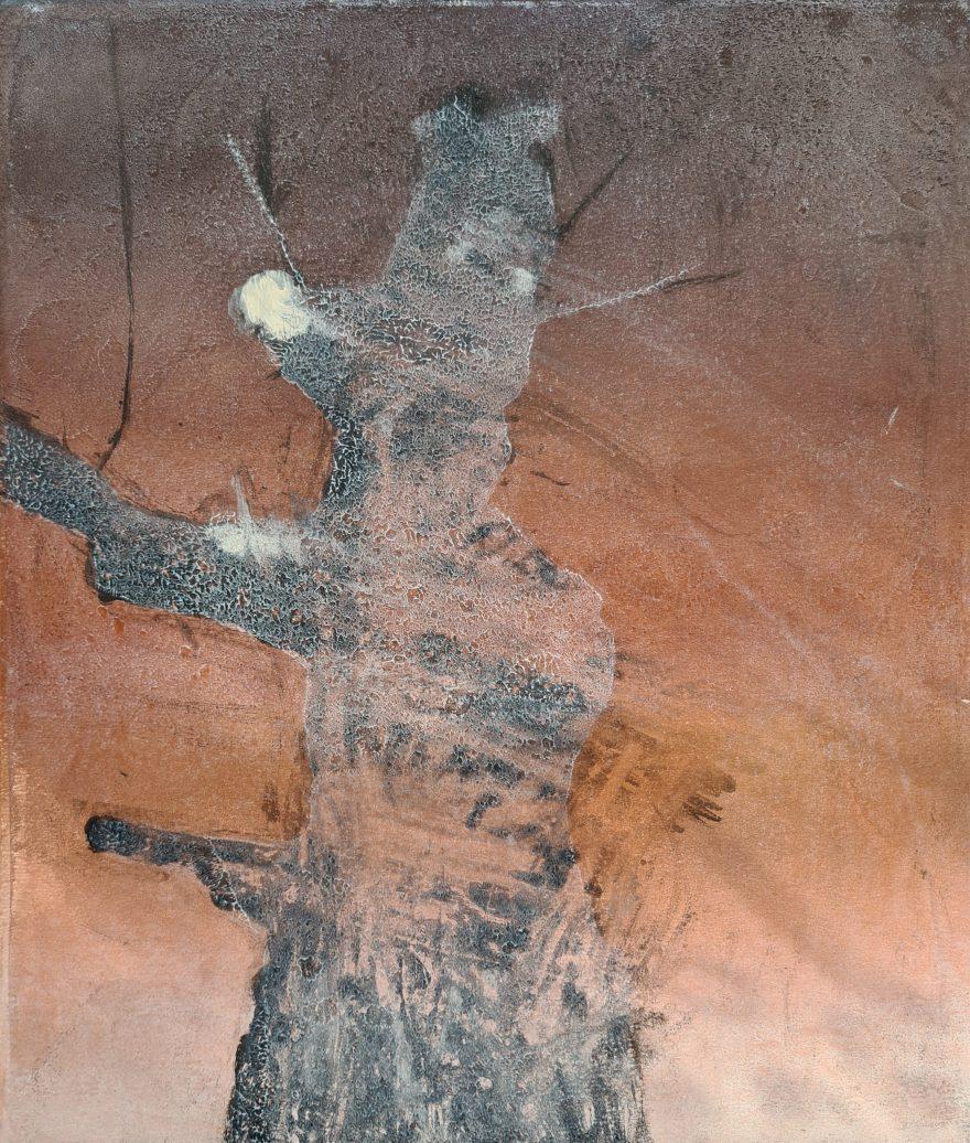 Stump #179 (Ghost), Monoprint, 36cm x 30cm, £120