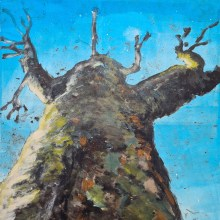 Stump #99, Monoprint, 36cm x 30cm *SOLD*