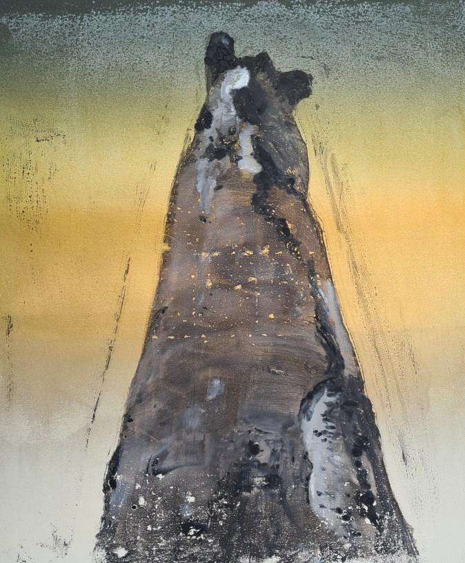 Stump #167, Monoprint, 36cm x 30cm