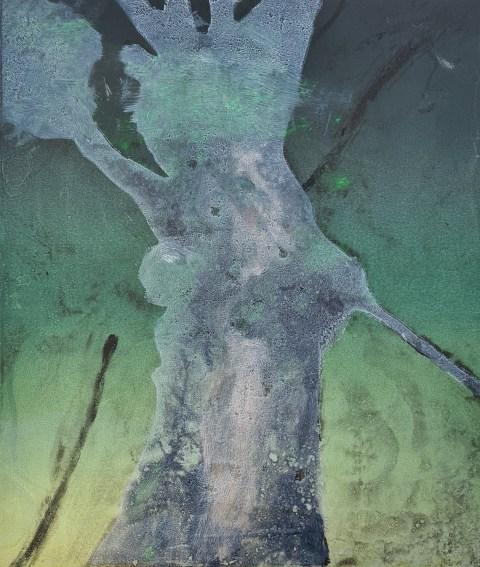 Stump #214 (Ghost), Monoprint, 36cm x 30cm
