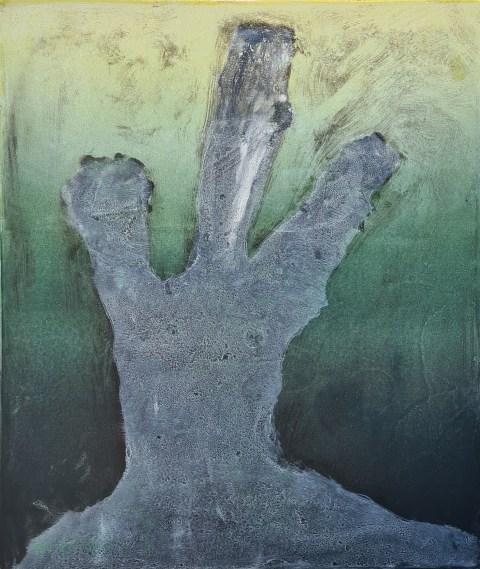 Stump #208 (Ghost), Monoprint, 36cm x 30cm