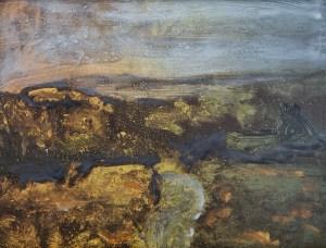 Empty Landscape VIII (Yar Tor), Monoprint, 25cm x 20cm
