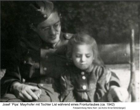 1942ca - Jos.Pips Mayrhofer mit tochter Lisl