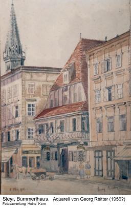 1956 - Stadtplatz Aqu.G.Reitter