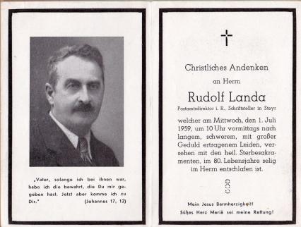 Totenbild.Landa.1.7.1959.Sammlung Schimanko