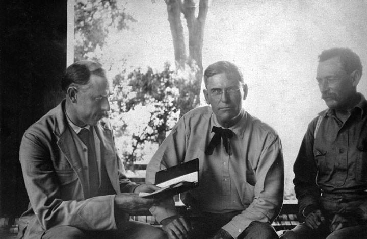 Joseph B. Lippincott, Fred Eaton, and William Mulholland. Fathers of the Los Angeles Aqueduct.