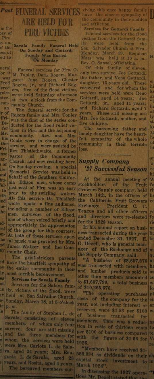 From the Fillmore American, Thursday, March 22, 1928, page 3