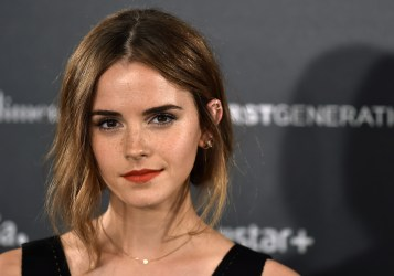 """English actress Emma Watson poses during the photocall of Hispano-Chilean director Alejandro Amenabar's movie """"Regression"""" in Madrid on August 27, 2015. AFP PHOTO/ GERARD JULIEN (Photo credit should read GERARD JULIEN/AFP/Getty Images)"""