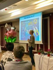 Dr Pia Ostergaard presenting at a Lipoedema conference