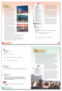 Book lay-out for a studybook for foreign English students in Finland. Author Russell Snyder.Finn Lectura 2009.