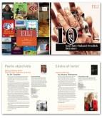 Series of book genre brochures for Finnish Literature Exchange. 2012.