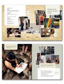Brochure for Finnish Literature Society. Finnish, English and Swedish language versions. 2012.