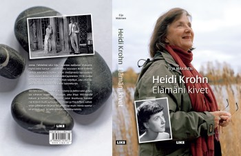 Cover and lay-out design for Heidi Krohn biography by Eija Mäkinen. Published by LIKE Kustannus 2009