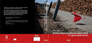 """Cover and lay-out design for """" Footsteps of modern choreography - 37 ways to dance"""" by Hannele Jyrkkä. Published by LIKE Kustannus 2012"""