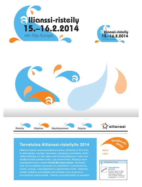 Identity and logo design for Allianssi ry's biannual cruise for reference groups and partners. 2014