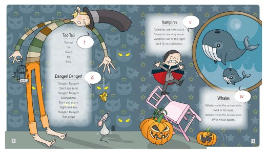 """Illustrations and book design for """"Pronunciation Poems for Tots"""" by Candy Kallio. Published by Finn Lectura, 2011."""