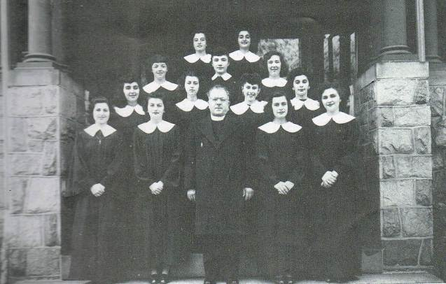 Father Michael Sophocles with Choir 1947