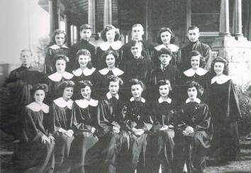 Sunday School Staff and Choir 1943
